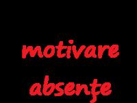 Cerere motivare absențe